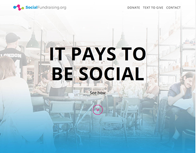 Social Fundraising Landing Page
