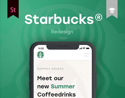 Starbucks Redesign | UX & UI