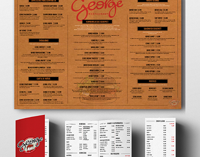 Menu George Restaurant Burger & Fun