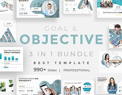 Goals Objectives Bundle Powerpoint