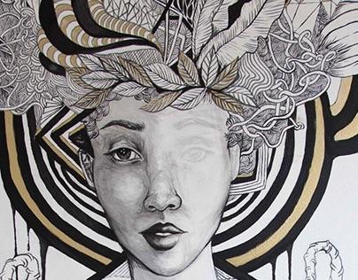 Alice Yard Wall Drawing// Trinidad and Tobago 2014