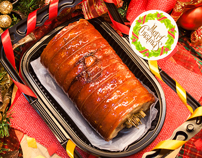 Lechon Pork Belly Promo Ad for Chopping Board
