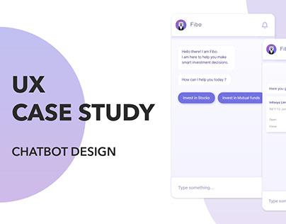 UX Case Study: Chatbot Design