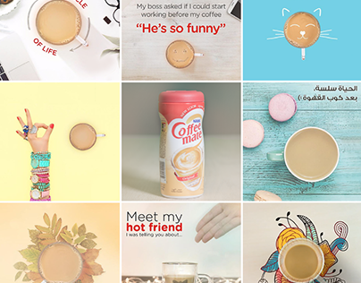 Coffee Mate Social Media content