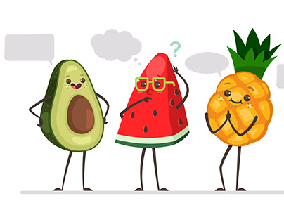 Funny fruits Conversation
