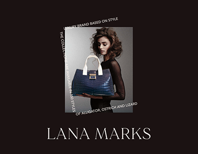 Concept online store brand Lana Marks — luxury bags