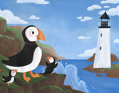 Puffins at the Sea
