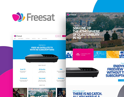 Freesat website redesign