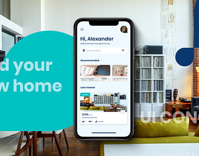 Rent home app UI concept
