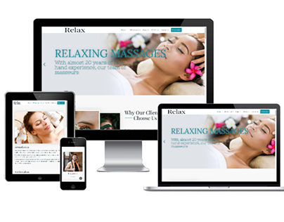 Relax - Create beauty salon site