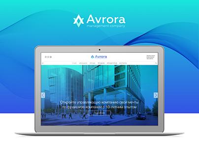 Concept web site «Avrora»