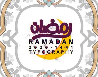 """""""رمضانRAMADAN 2020-1441"""" Arabic Typography"""