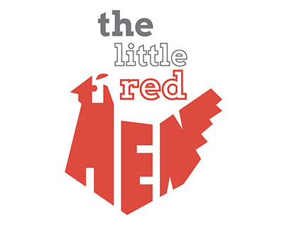 Little Red Hen Typography Book