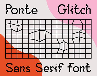 Ponte Glitch Sans Serif Font