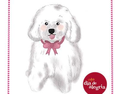 Cute puppy ilustration