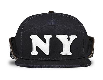 2 City Denim Back Flap Military Hat