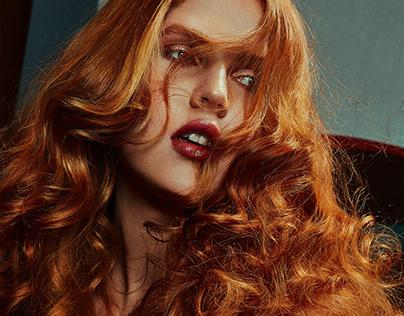 Redhead hair beauty