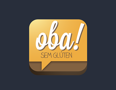 Icon proposal for app Oba Sem Gluten