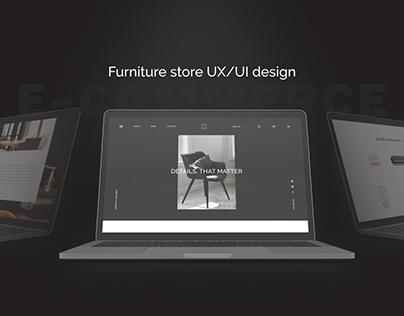 Furniture store UX/UI design