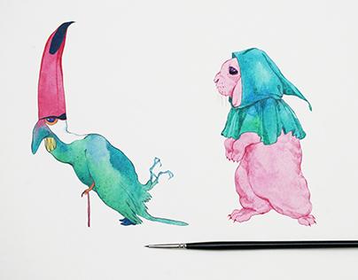 Pink creatures