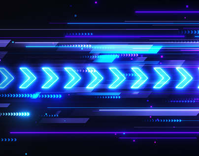 Speed Movement Esports Neon Arrows Looping Background