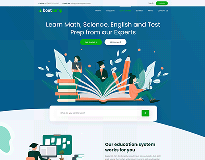 Bootcamp - Online Courses Website Template