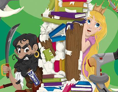 Book illustration: Die Schlacht der Bücher