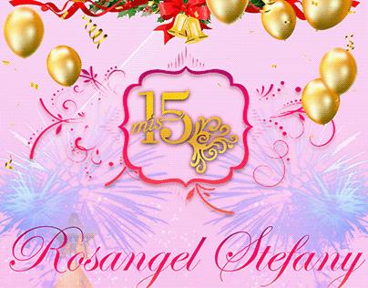 Tarjeta de invitación para 15 años (Rosangel)