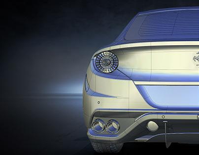 Ferrari FF modeling