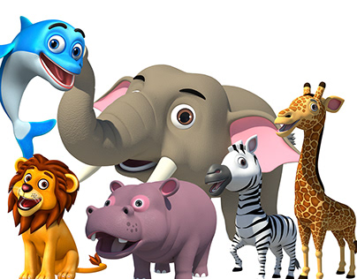 Cute Animals 3D Models