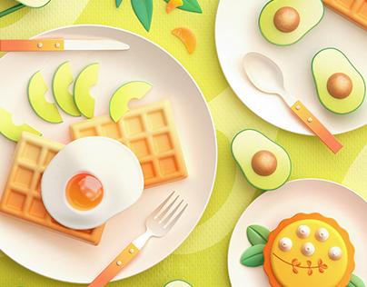 Food Memory | C4D