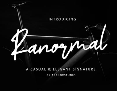 RANORMAL - FREE SIGNATURE FONT