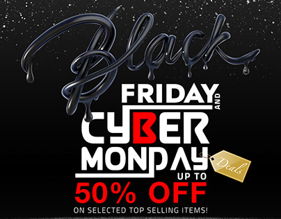 Black Friday and Cyber Monday Promotional Posters