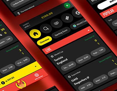 Rizk Sportsbook UI Design