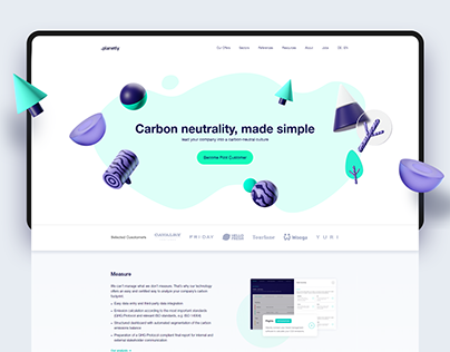 Planetly Website Redesign