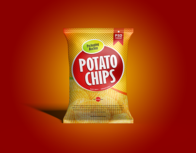 Chips Bag Mockup Free