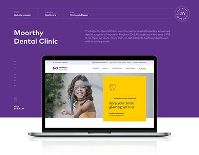 Moorthy Dental Clinic Website