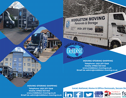 Moving Storing and Shipping Flyer for Corporate Client