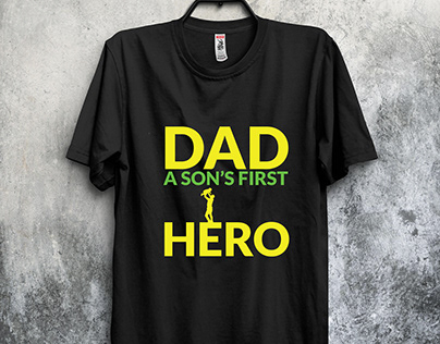 Typography Father's Day T-shirt Design Bundle