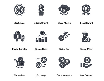 Bitcoin and Cryptocurrency Mining Glyph