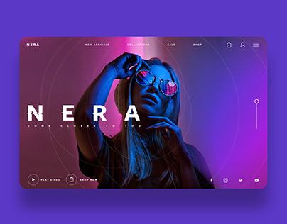 Nera Sunglasses Ui/Ux Design Concept