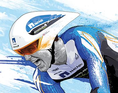 Rapid Cyclist - Skillshare Sports Illustration Project