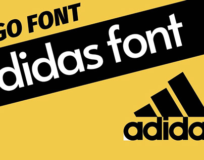 The Logo Font Of Adidas (Adidas Font)