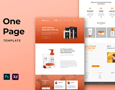 One Pages Template – Natural Cosmetic Website