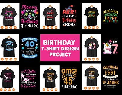 Birthday T-shirt Design Project