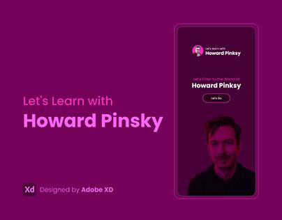 App Concept   Learn with Howard Pinsky