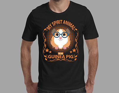 Guinea Pig Black T-shirt