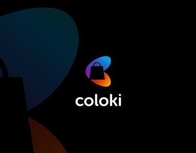 Logo Branding Design for Shopping APP Coloki
