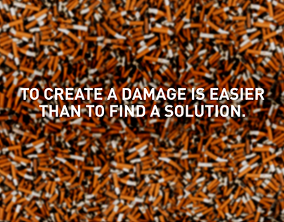To create a demage is easier than to find a solution.