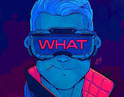 Ilustrações Psicodélicas - Personagens Espaciais